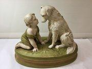Antique Royal Dux Figurine Group circa 1910