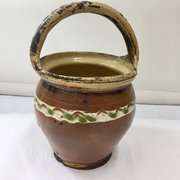 Antique Rustic Pottery Olive Jar