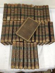 Antique Set 36 Leather Bound Books British