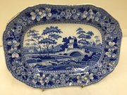 Antique Spode Pottery Tower Pattern Dish c.1820