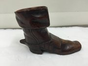 Antique Treen Carved Walnut Wood Boot c.1870