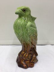 Antique  Majolica Bird of Prey Vase circa 1880's