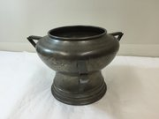 Art Deco Pewter Vase / Music Box