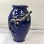 Art Studio Pottery Lizard Chameleon Vase