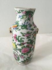 Cantonese Enamel Porcelain Vase circa 1850