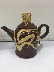 Cleverly Studio Pottery Mouse Lid Tea Pot