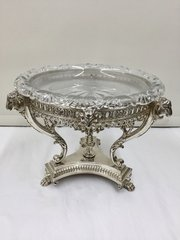 Fine Antique Silver Plated Rams Head Centre Piece