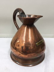 Fine Georgian Copper Ale Jug Measure