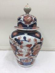 Imari Japanese Oriental Porcelain Temple Vase