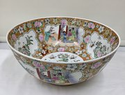 Large Old Chinese Oriental Porcelain Punch bowl