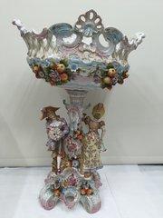Large Volkdstet Porcelain Figural Comport