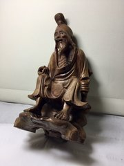 Old Chinese Carved Hardwood Figurine