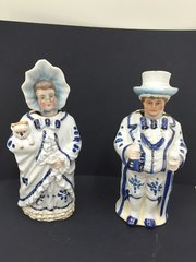 Pr Victorian Nodding Figurines circa 1875