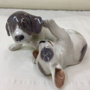 Royal Copenhagen Porcelain Puppies at Play
