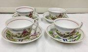 Set Four Hilditch Porcelain Cups and Saucers