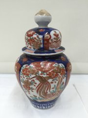 Small Imari Temple Jar & Cover circa 1870