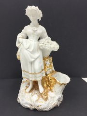 "Victorian Bisc Figure "" Flower Girl "" circa 1850"