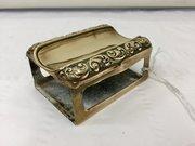 Victorian Brass Match Box Holder