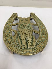 Victorian Brass Novelty Cat Trivet circa 1890