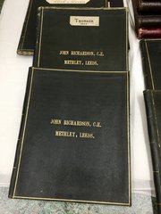 Victorian Leather Bound Copper Plate WrittenBooks