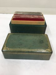 Vintage Italian Leather Case of Playing Cards