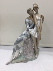 Vintage Retired Lladro Harlequin Ballet Dancer