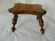 Wooden Lace Makers lamp stool