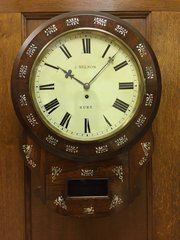 Antique C1850 drop Dial Fusee Wall Clock