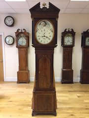 C1790 Rare Oval Dial Antique Longcase clock