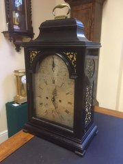 C 1775 Ebonised Bracket Clock