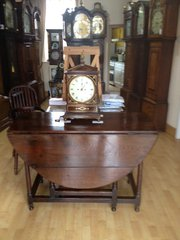 Circa 1745 Oak gate-leg table.