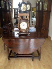 Circa 1745 Oak gate-leg table.
