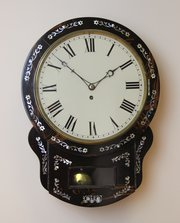 Early Victorian Coramandal drop dial wall Clock