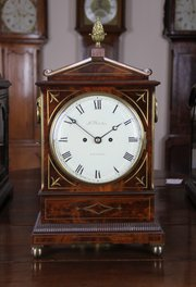 George 111 Mahogany Mantle Clock