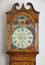 c1845 Scottish 8 day Antique Longcase Clock