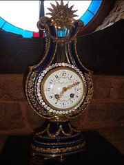 French Lyre Clock.