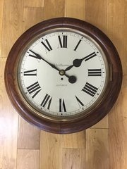 Large Fusee Wall Clock c1870