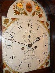 Oak Longcase clock From Newport Pagnell.