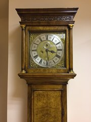 Queen Ann, Walnut, London Longcase Clock c1705