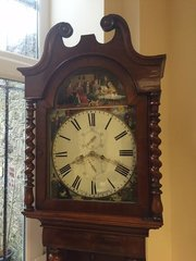 Scottish Mahogany longcase clock Circa 1825.