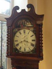 Scottish Mahogany longcase clock Circa 1825.