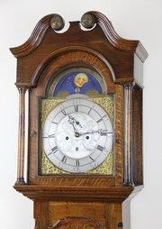 Superb 8 Day Longcase Clock wth Rolling Moon c1780