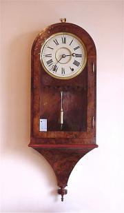 Antique Ansonia Walnut drop dial clock c1870.