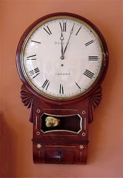Antique Wall Clock By James Breese c1825