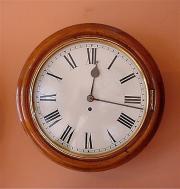 Antique Fusee Dial Wall Clock. Circa 1875.
