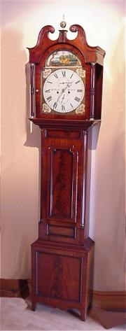Scottish Mahogany Antique Longcase Clock