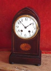 Antique 8 day China dial gong strike mantel Clock