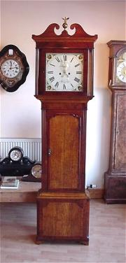 Antique longcase Clock by Cornforth c1825/30