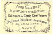 Account Book Label