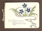 Art Nouveau Christmas card cir